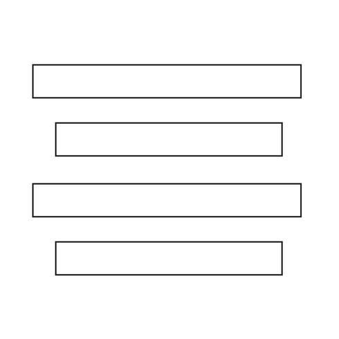 Align Text Centre icon sign Illustration