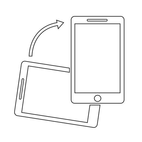 Smartphone-Symbol drehen