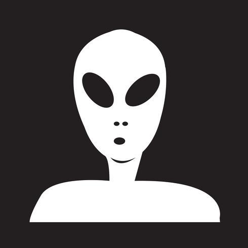 Segno di simbolo dell'icona di alieno