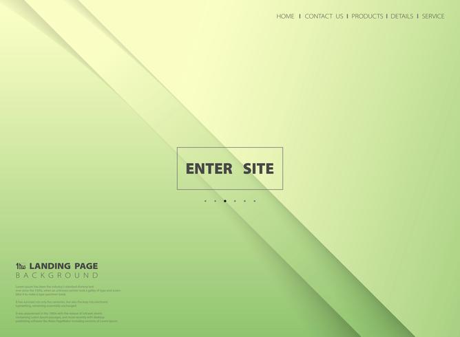 Abstrakt minimal gradient grön gul målsida vektor bakgrund.