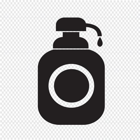 Gel de ducha, icono de dispensador de jabón líquido