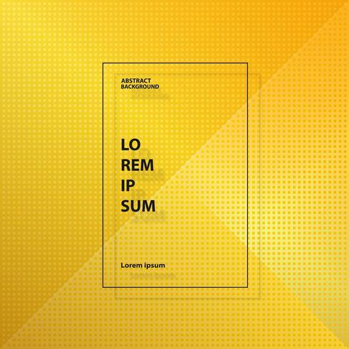Abstracte moderne gouden gele vierkante geometrische patroonachtergrond. U kunt gebruiken voor advertentie, omslag, illustraties, jaarverslag.
