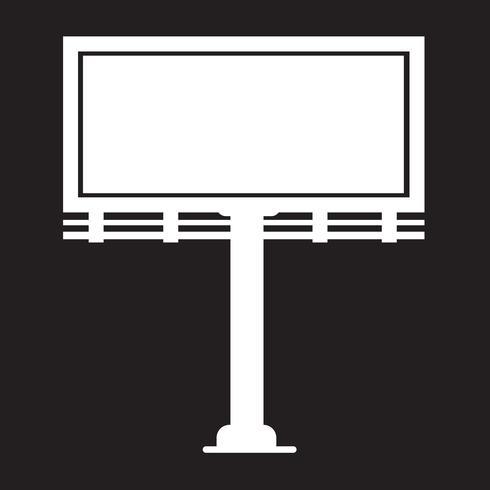 Ícone de apresentação de outdoor