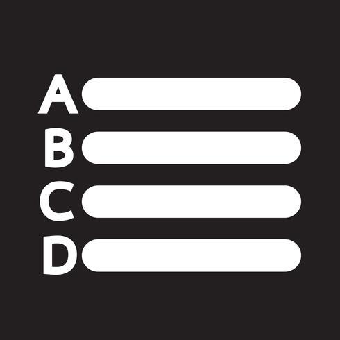 Ícone de lista de letras de texto