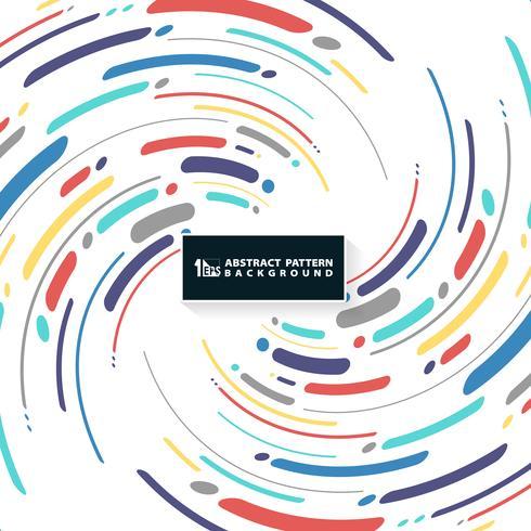 Línea colorida abstracta de la raya de fondo de la cubierta del modelo del remolino. Puede utilizar para el nuevo diseño de portada, anuncio, cartel, impresión, folleto. vector