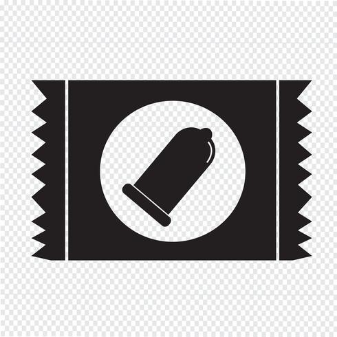 Icono de paquete de condones signo de protección vector
