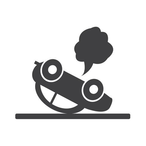 car auto accident icon vector