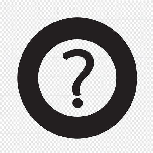 Question mark sign icon