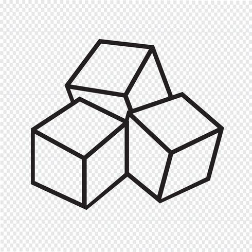 Ícone de cubos de açúcar vetor