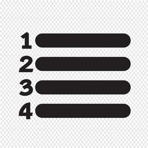 Segno di numero elenco icona