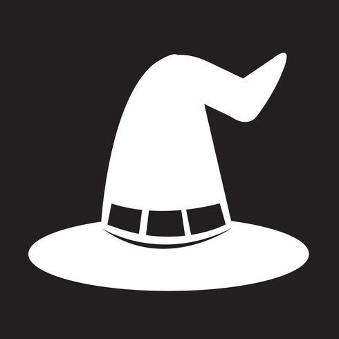 icona di cappello strega di halloween