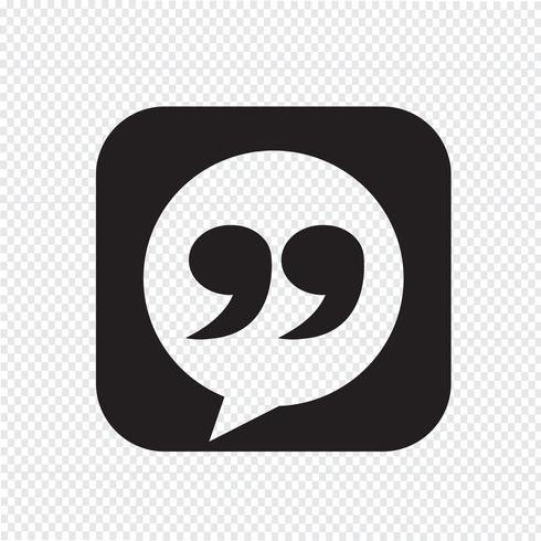 Icono de signo blockquote ilustración vector