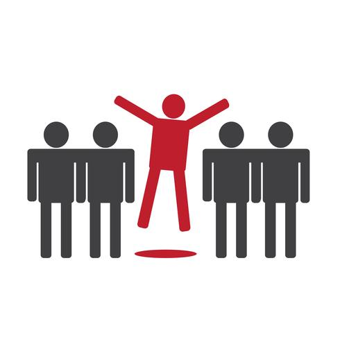 people icons think different idea vector