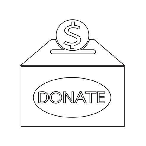Icona casella di donazione
