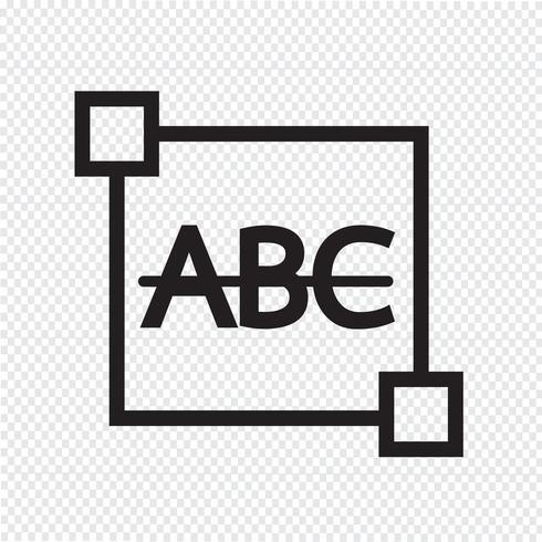Strikethrough Text edit letter icon vector