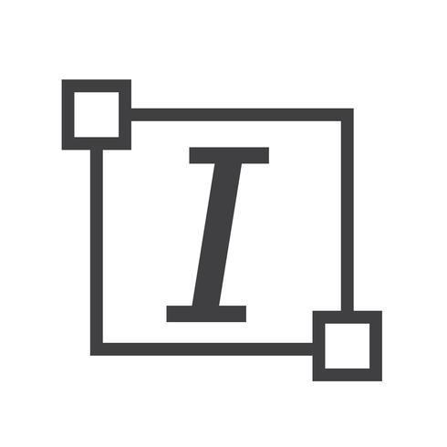 Icône de lettre d'édition de police Italic Text