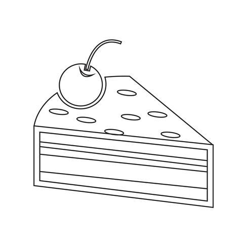 Ícone de peça de bolo