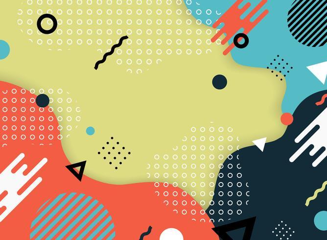 Abstrakt färgglada geometriska mönster av memphis dekorera bakgrund. Du kan använda för konstverk design sida, täcka utskrift, annons, affisch. vektor