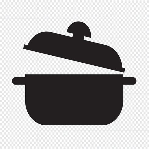 segno simbolo icona di casseruola