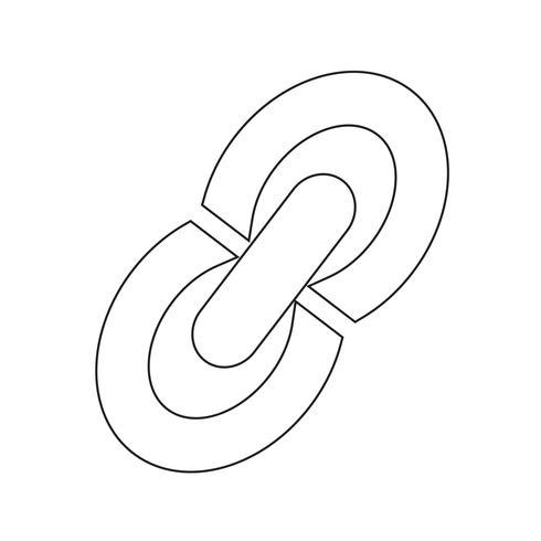 Inserisci l'illustrazione del segno dell'icona di collegamento di modifica