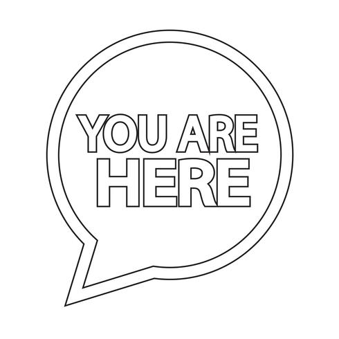 U bent hier pictogram