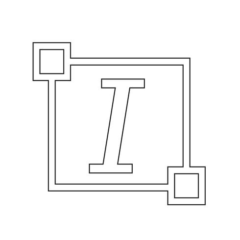 Italic Text font edit letter icon