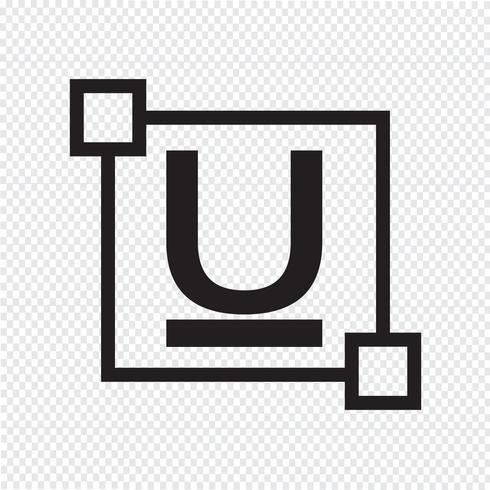 ubderline Text Schriftart bearbeiten Briefsymbol