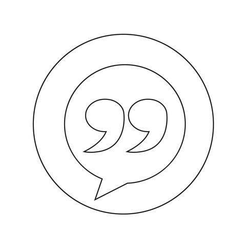 Blockquote sign icon Illustration