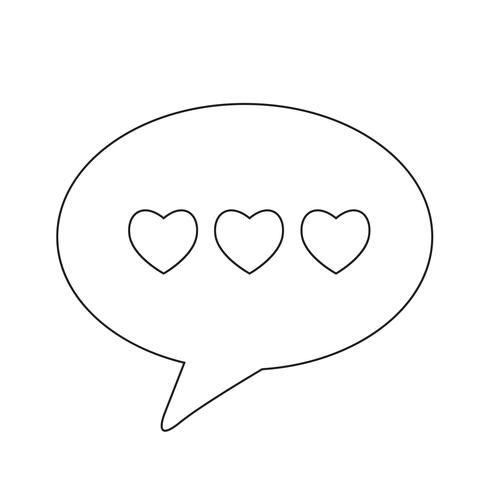 Ícone de bolha do discurso de coração