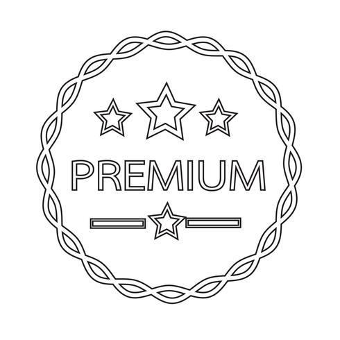 Vintage premium label icon vector
