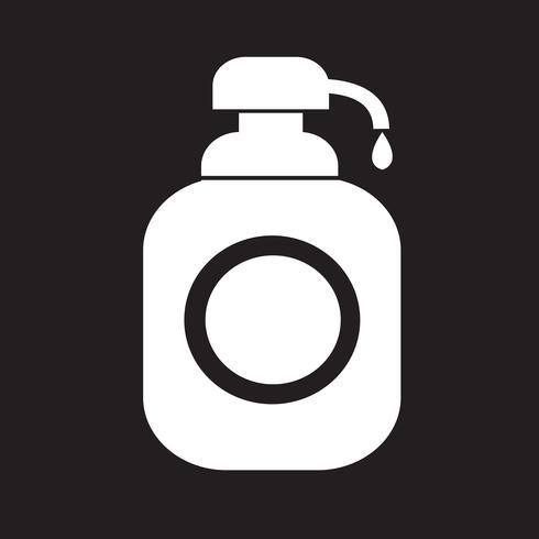 Gel douche, distributeur de savon liquide Icon vecteur