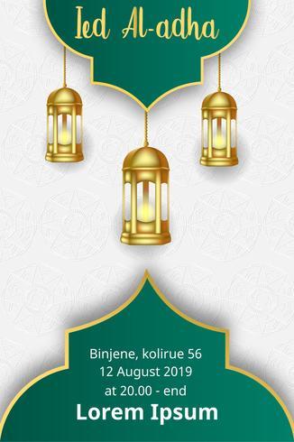poster modern design eid mubarak template vector