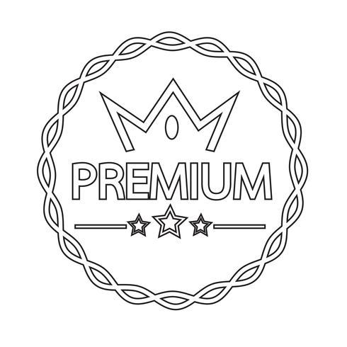Icône d'étiquette Vintage premium