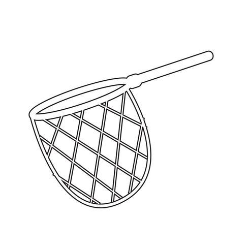 vissen jacht net pictogram vector