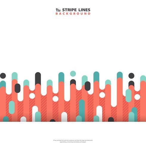 Línea de moda abstracta raya línea patrón de colores de fondo. Se puede utilizar para publicidad, póster, diseño moderno, material gráfico, informe anual. vector