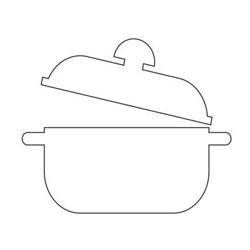 casserole icône symbole signe