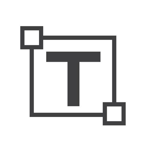 Text edit letter icon