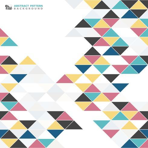 Abstrakter moderner bunter Dreieckmuster-Designhintergrund. Sie können für Artwork Cover von alten antiken Elementen, Cover, Print, Anzeige verwenden.