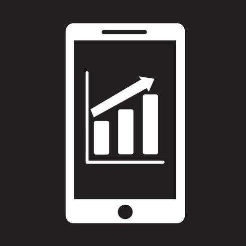 icona di infografica grafico di telefonia mobile