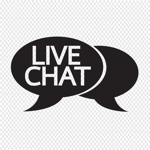 Icono de burbuja de chat en vivo