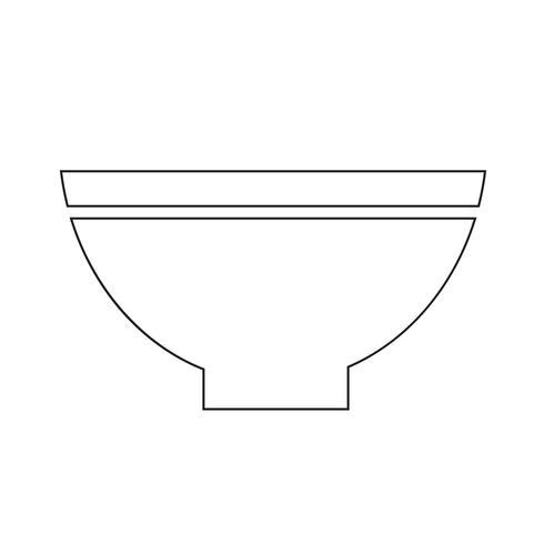 skål ikon symbol tecken vektor