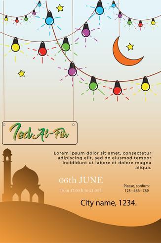 poster modern design eid mubarak template