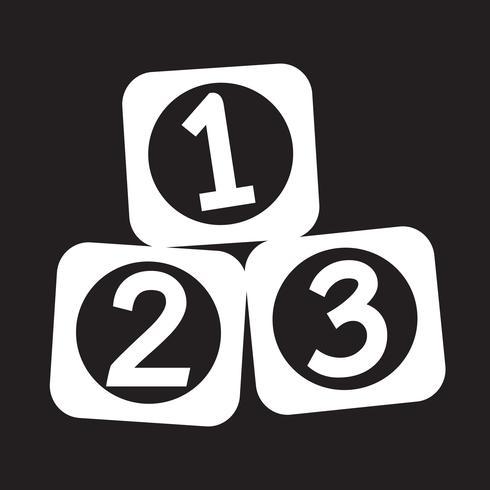 Icono de 123 bloques vector