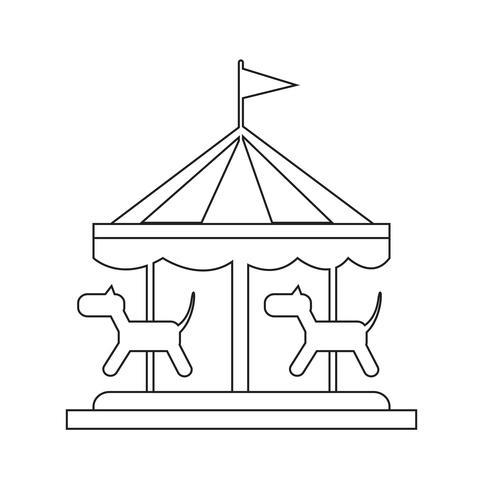 Frohe Runde Symbol