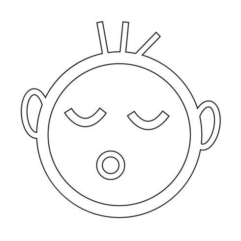 icona del bambino che dorme