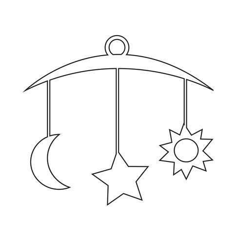 baby hangende pictogram