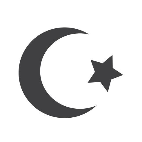 Symbol der sichelförmigen Ikone des Islamsterns