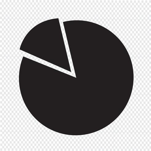 Diagrama simple y el icono de gráfico