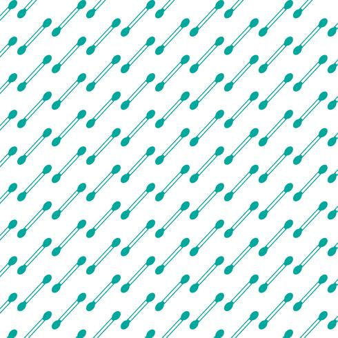 Fondo del patrón Icono de hisopo de algodón vector