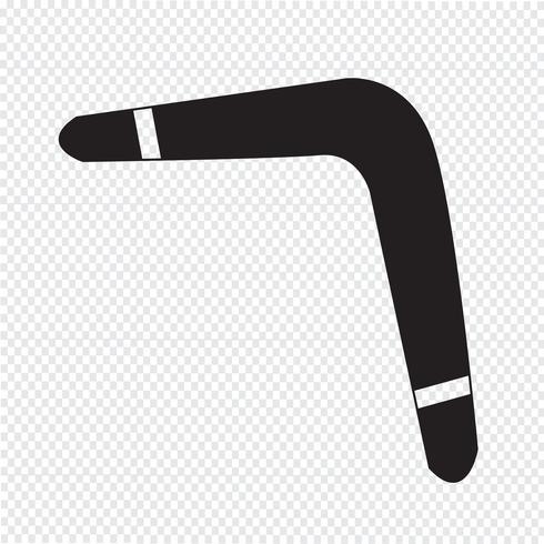 Signo de símbolo de icono de Boomerang